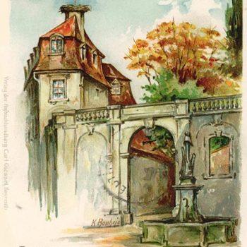 Postkartenmotiv: Das Storchenhaus