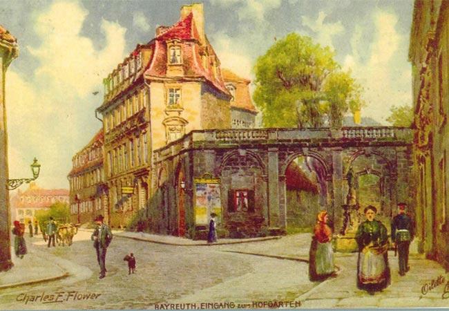 Postkartenmotiv Storchenhaus um 1910, Archiv Bernd Mayer