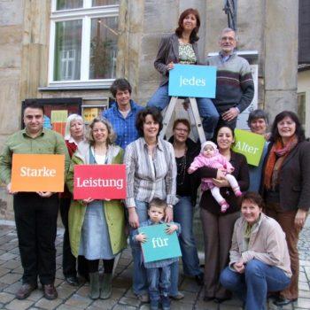 Pressefoto zur Eröffnung des Mehrgenerationenhauses Bayreuth 2007