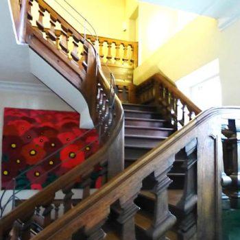 Das barocke Treppenhaus im Storchenhaus ist ein Baudenkmal an sich.