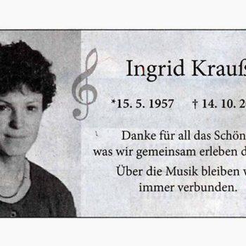 Ingrid Krauß (1957-2016)