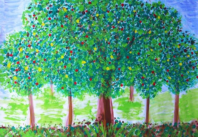 Pia Junod – Zeichnung Bäume