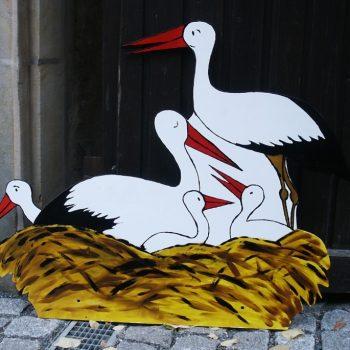 Aushängeschild Storchenhaus von Matthias Ose, Bayreuth
