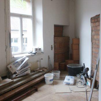 Umbauarbeiten im Inneren des Storchenhauses Büro EG