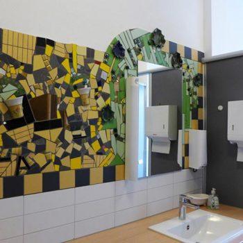 Mosaikkunstwerk von Andreas Lorenz, Löhehaus, 1. OG