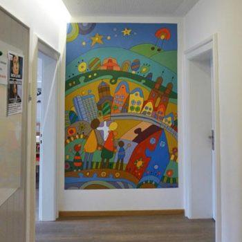 Wandbild von Erich Krause, Löhehaus, 1. Obergeschoss