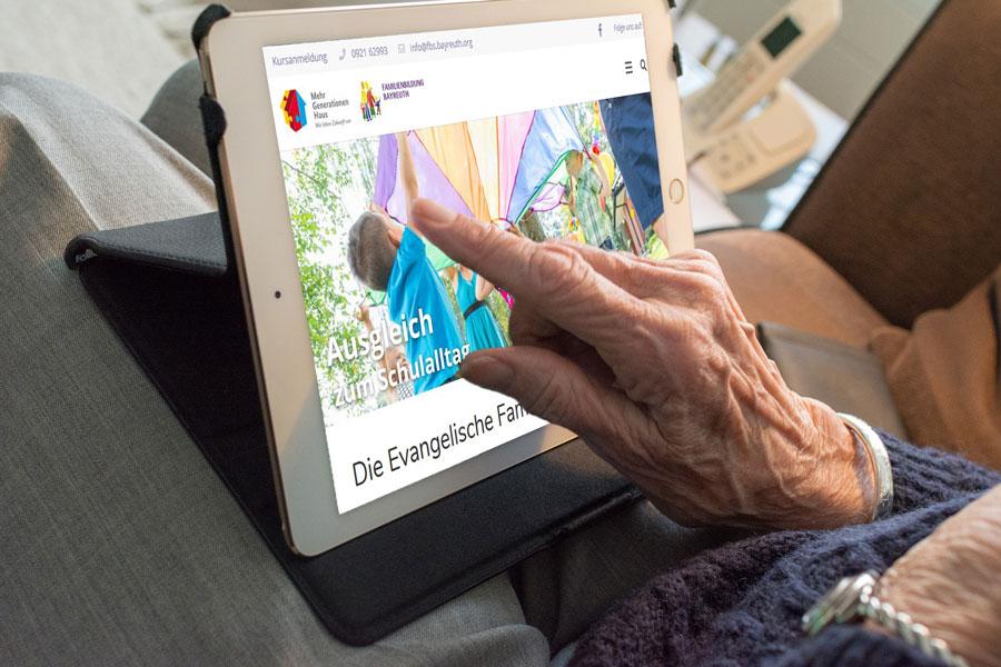 Oma bedient Tablet