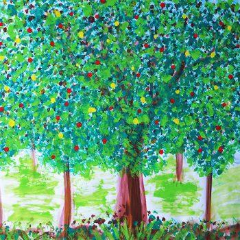 Blütenbäume, Malort Bayreuth