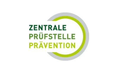 Logo Zentrale Prüfstelle Prävention