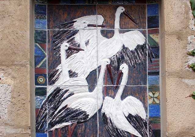 Brunnen am Storchenhaus aus der Töpferstube von Anne Krause