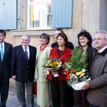 Einweihung des Treffpunkts St. Georgen 1 mit OB Dr. Dieter Mronz, 2003